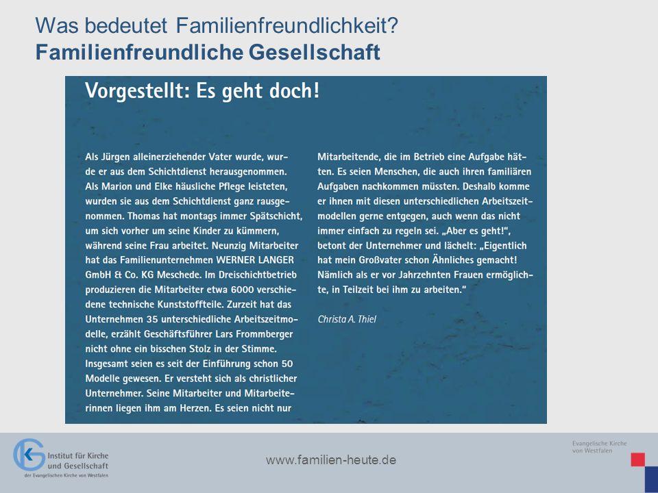 Was bedeutet Familienfreundlichkeit Familienfreundliche Gesellschaft