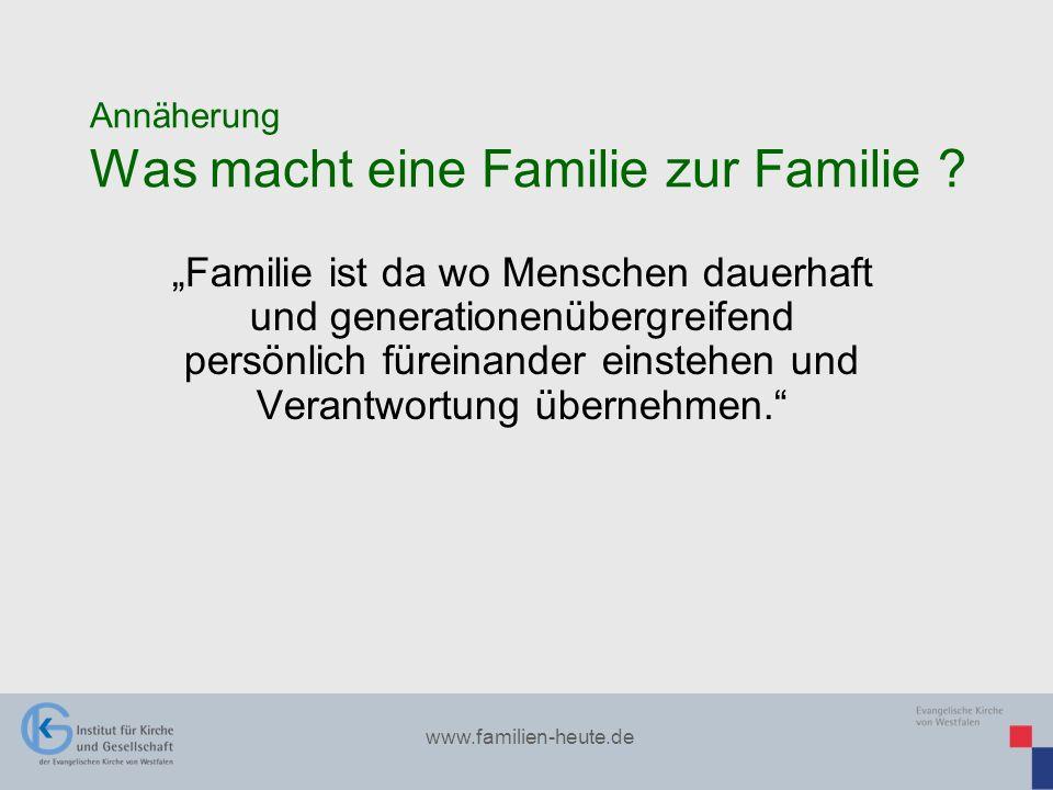 Annäherung Was macht eine Familie zur Familie