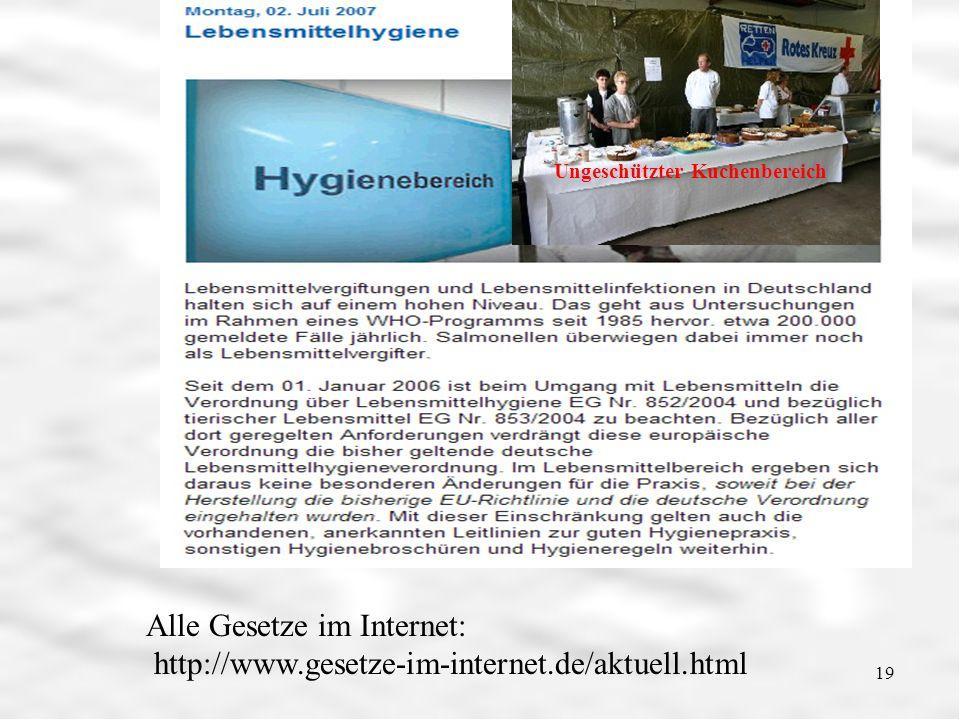 Lebensmittelhygiene Ungeschützter Kuchenbereich.