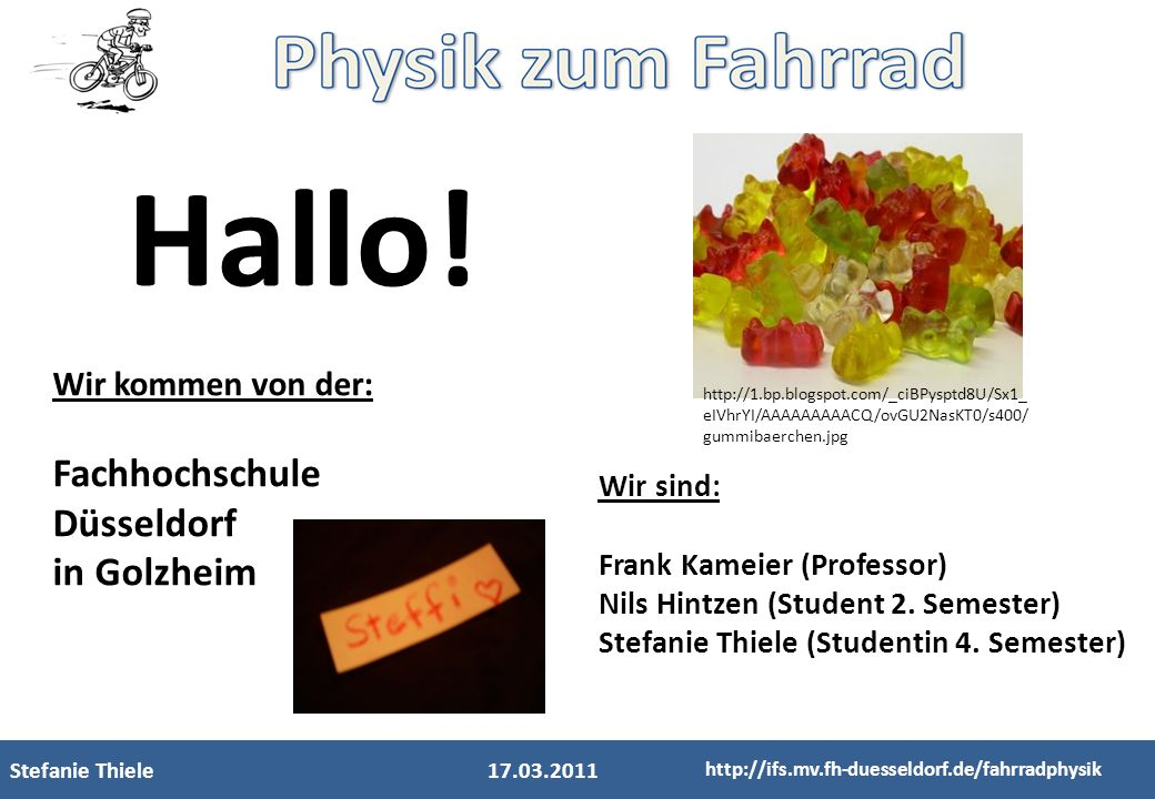 Hallo! Fachhochschule Düsseldorf in Golzheim Wir kommen von der: