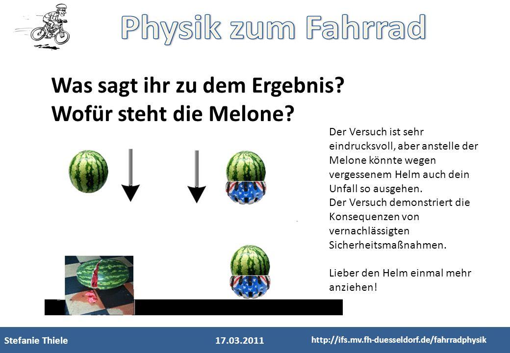 Was sagt ihr zu dem Ergebnis Wofür steht die Melone
