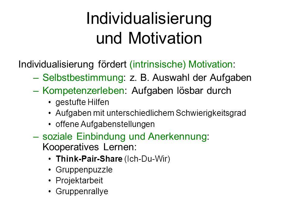 Individualisierung und Motivation