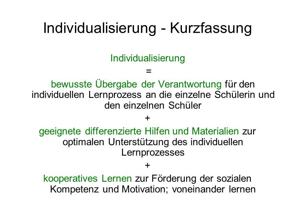 Individualisierung - Kurzfassung