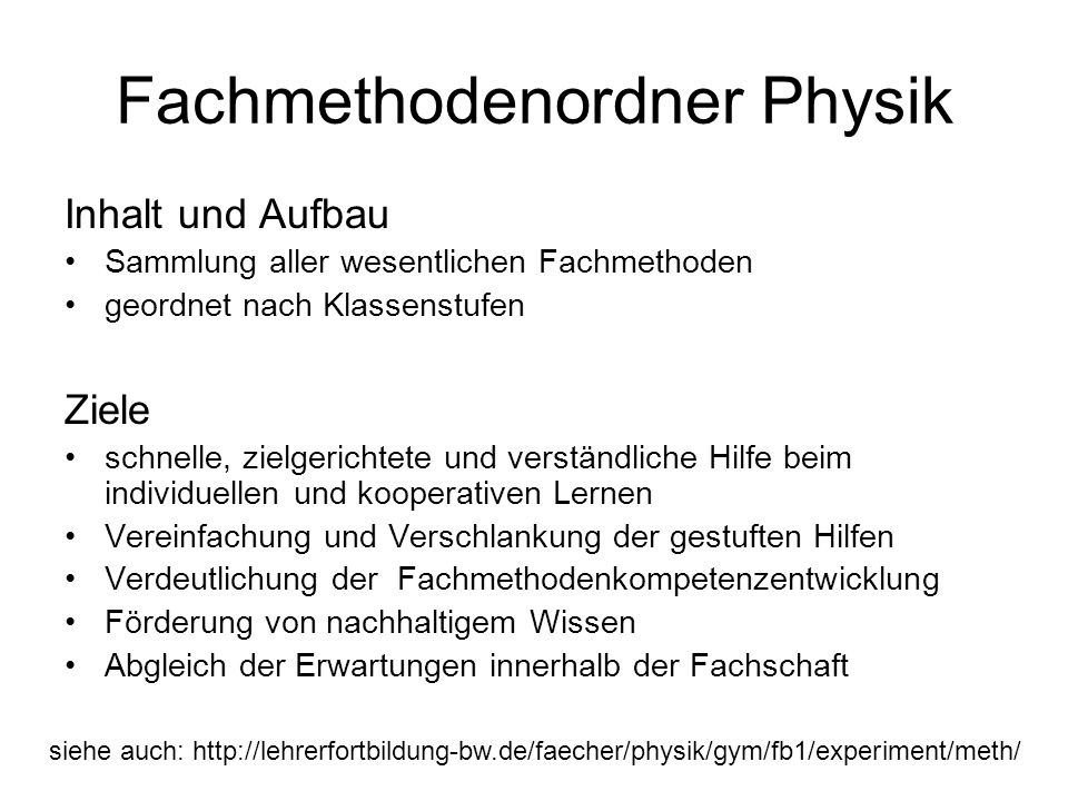 Fachmethodenordner Physik