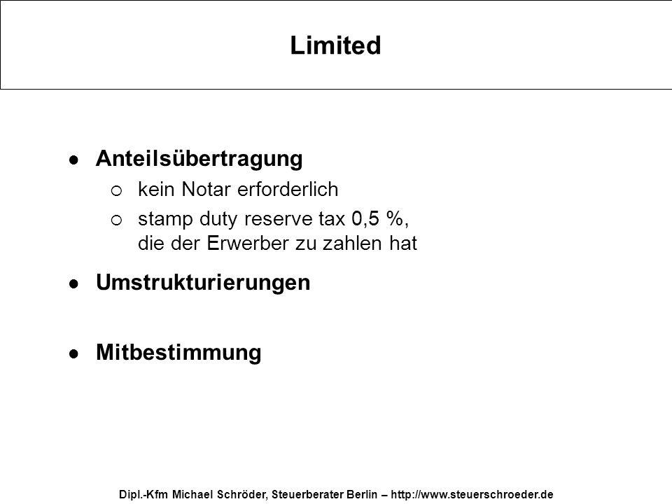 Limited Anteilsübertragung Umstrukturierungen Mitbestimmung