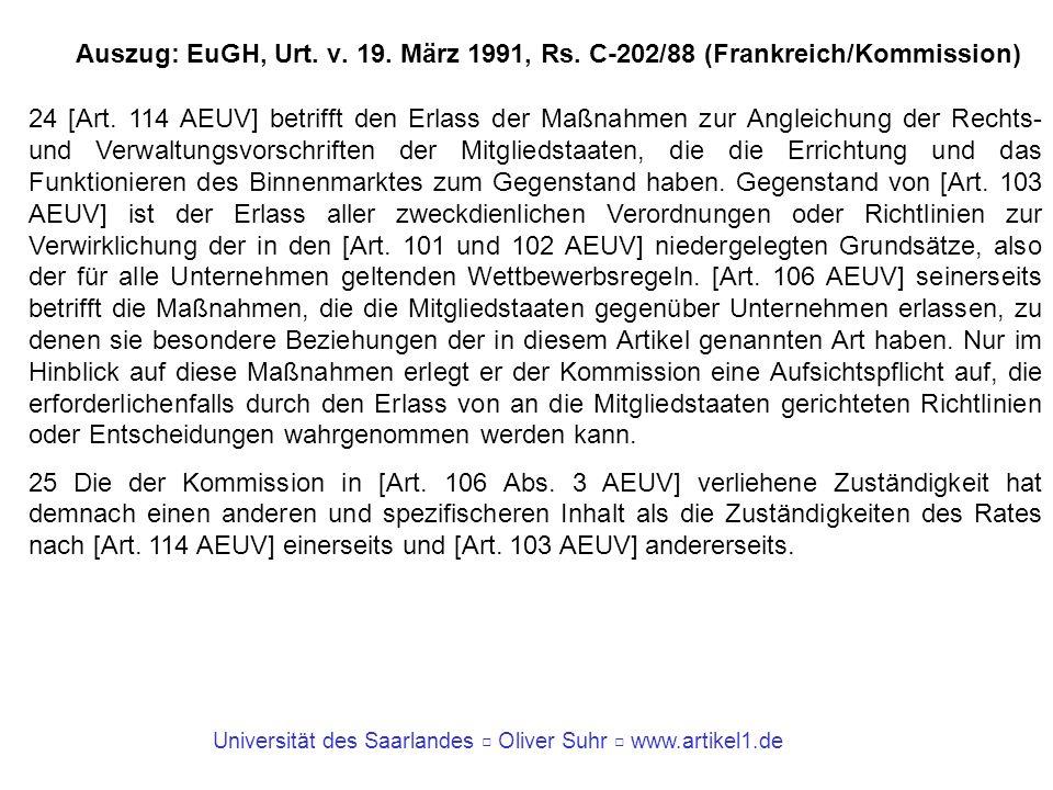 Auszug: EuGH, Urt. v. 19. März 1991, Rs