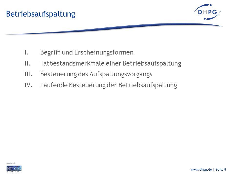Betriebsaufspaltung Begriff und Erscheinungsformen