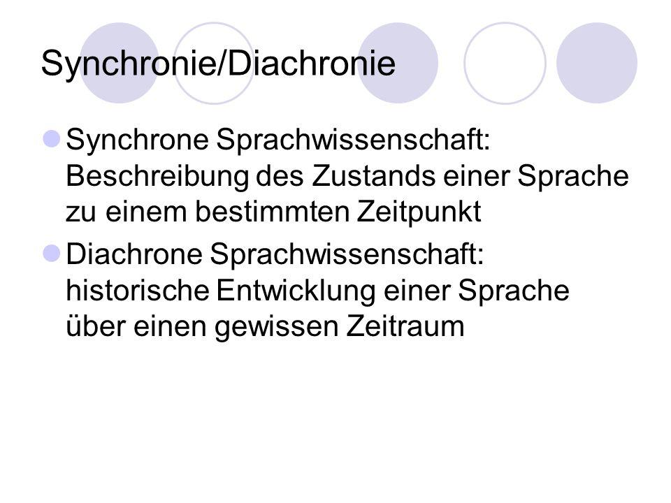 Synchronie/Diachronie