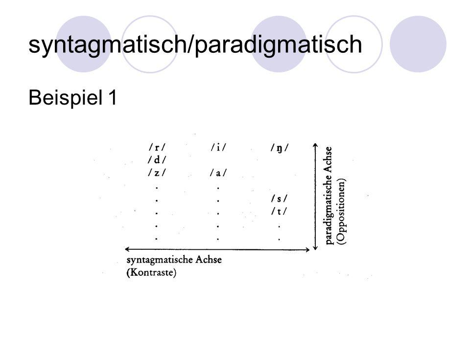 syntagmatisch/paradigmatisch