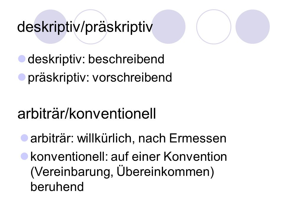 deskriptiv/präskriptiv