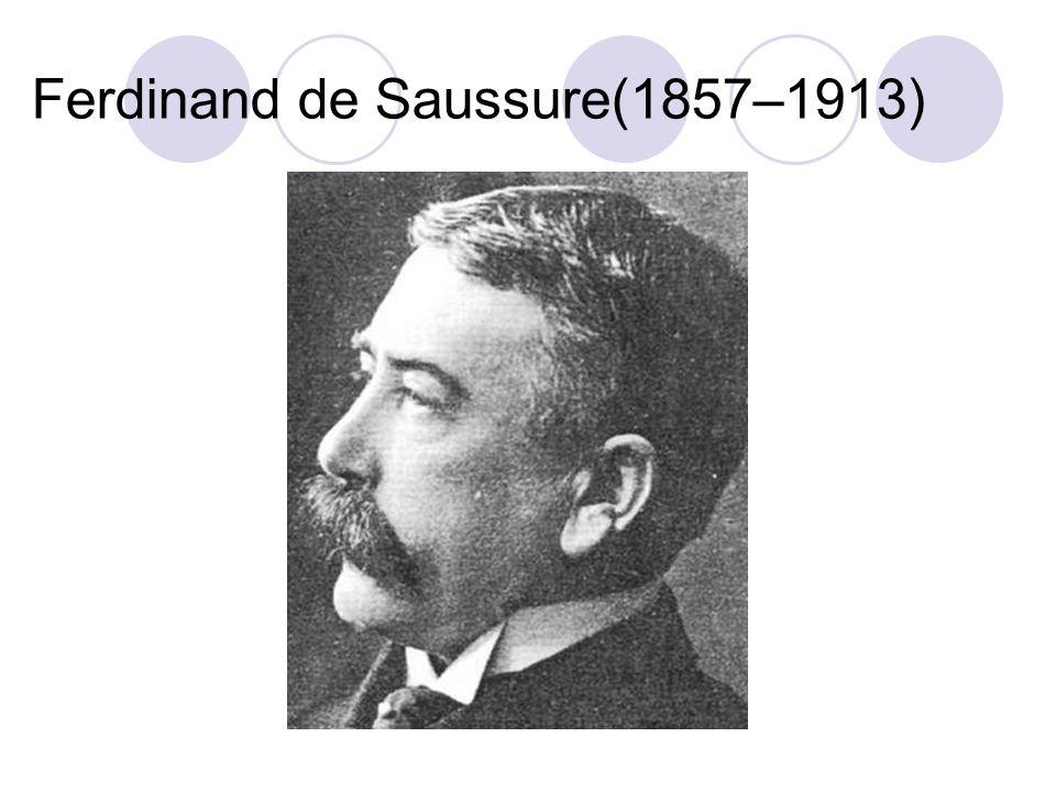 Ferdinand de Saussure(1857–1913)