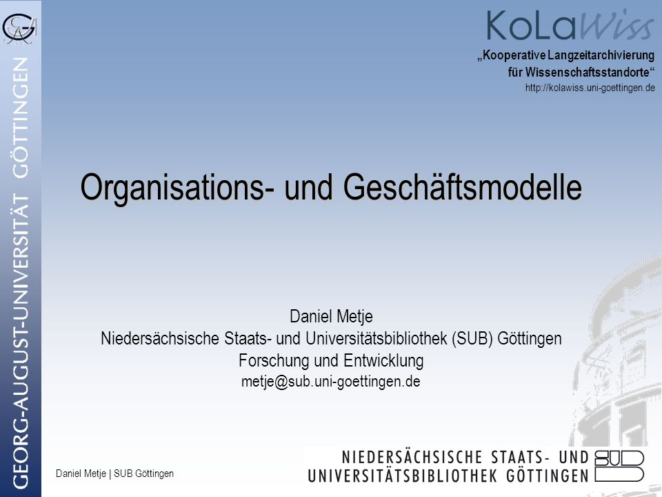 Organisations- und Geschäftsmodelle