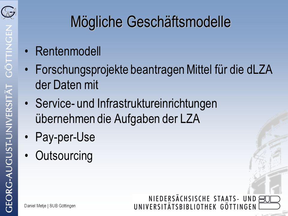 Mögliche Geschäftsmodelle