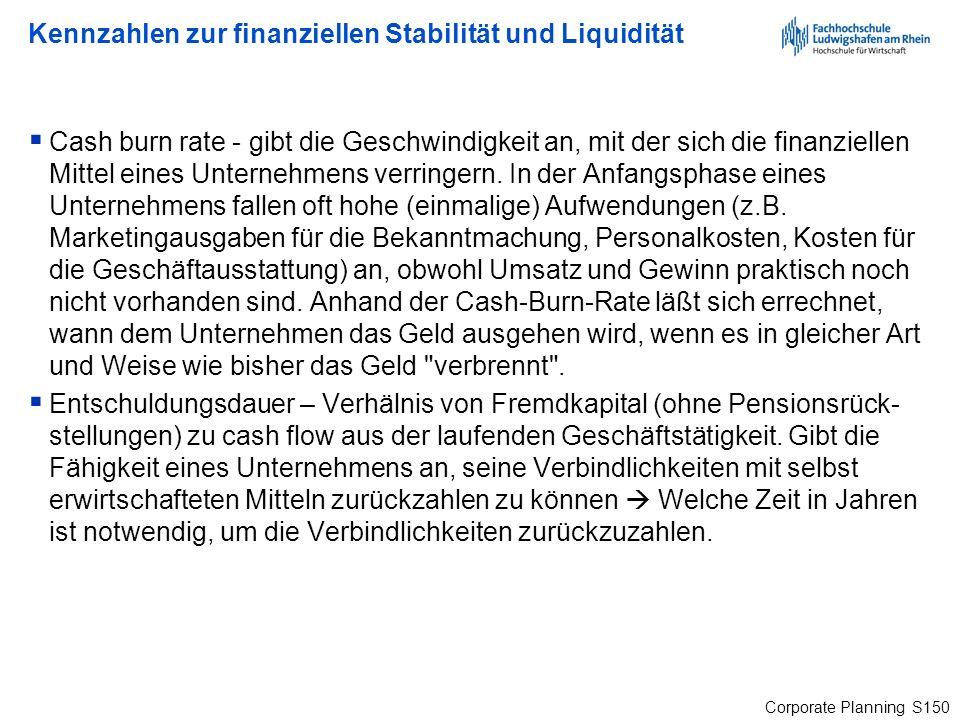 Kennzahlen zur finanziellen Stabilität und Liquidität