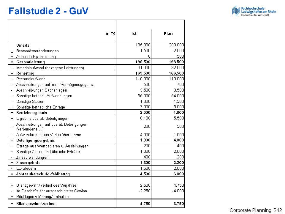Fallstudie 2 - GuV