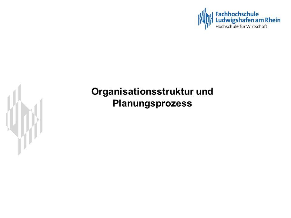 Organisationsstruktur und Planungsprozess