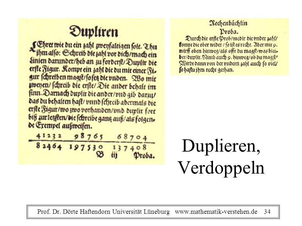 Duplieren, Verdoppeln Prof. Dr.
