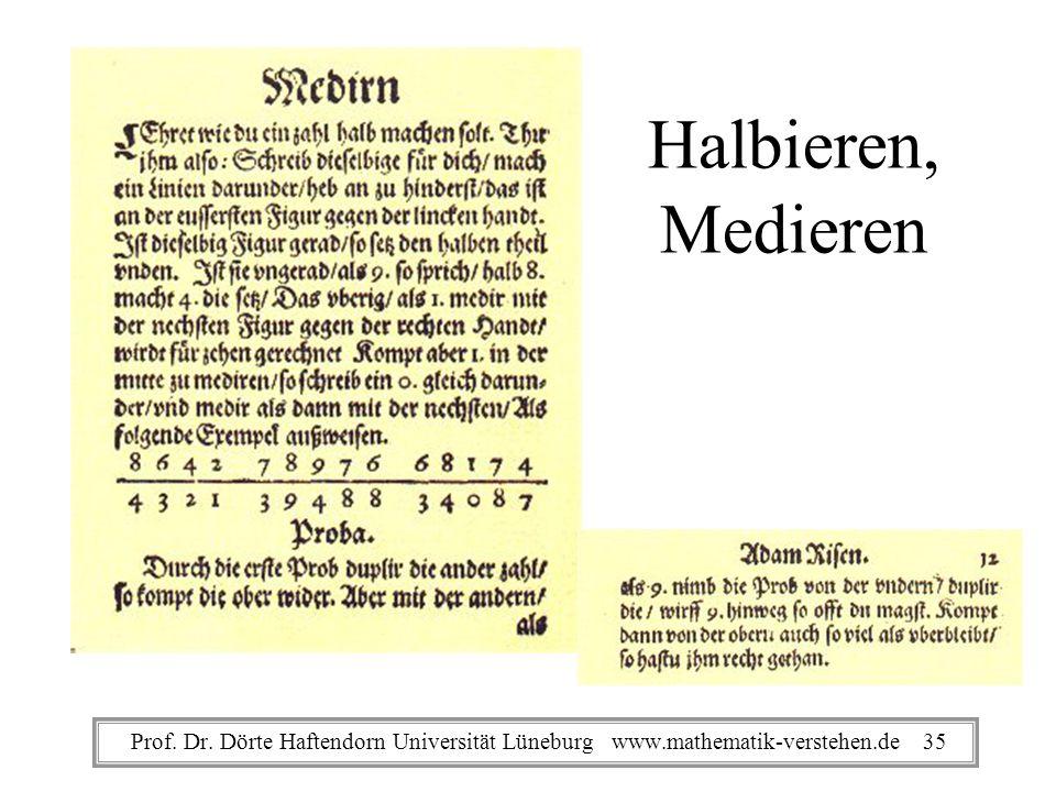 Halbieren, Medieren Prof. Dr.