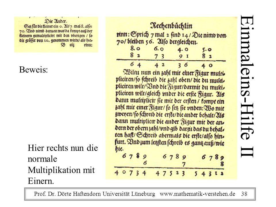 Einmaleins-Hilfe II Beweis: