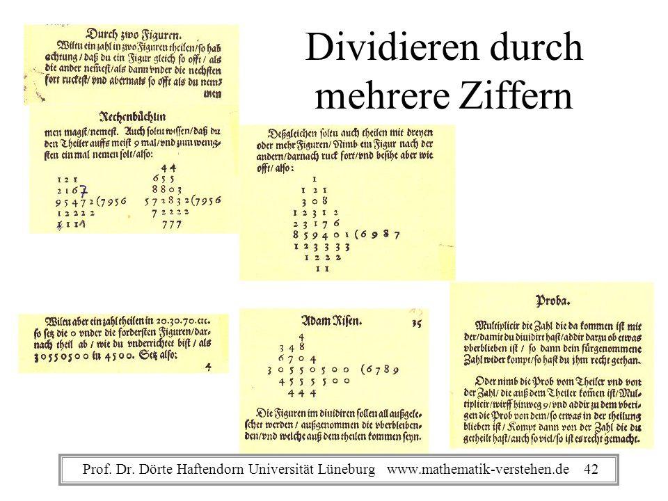 Dividieren durch mehrere Ziffern