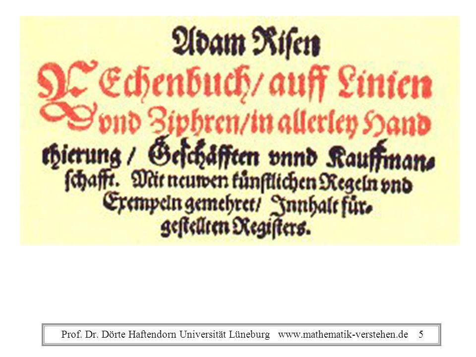 Adam Ries RechenbuchProf.Dr.