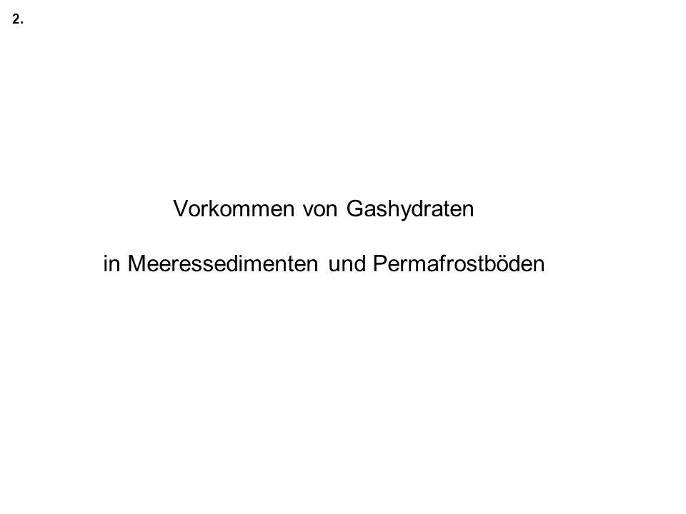 Vorkommen von Gashydraten in Meeressedimenten und Permafrostböden