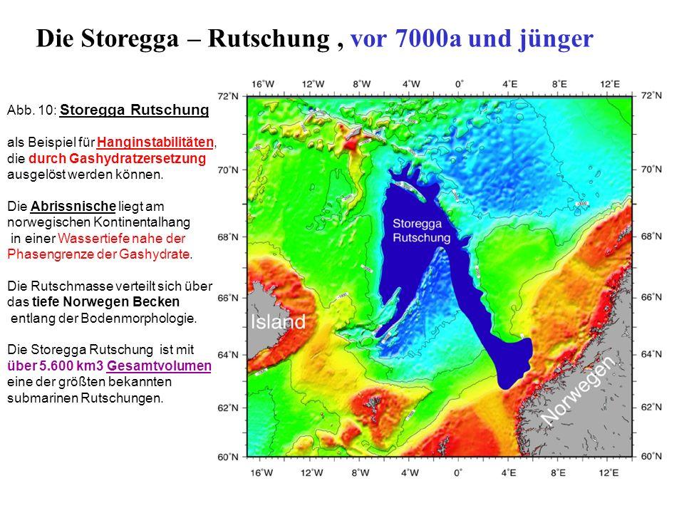 Die Storegga – Rutschung , vor 7000a und jünger
