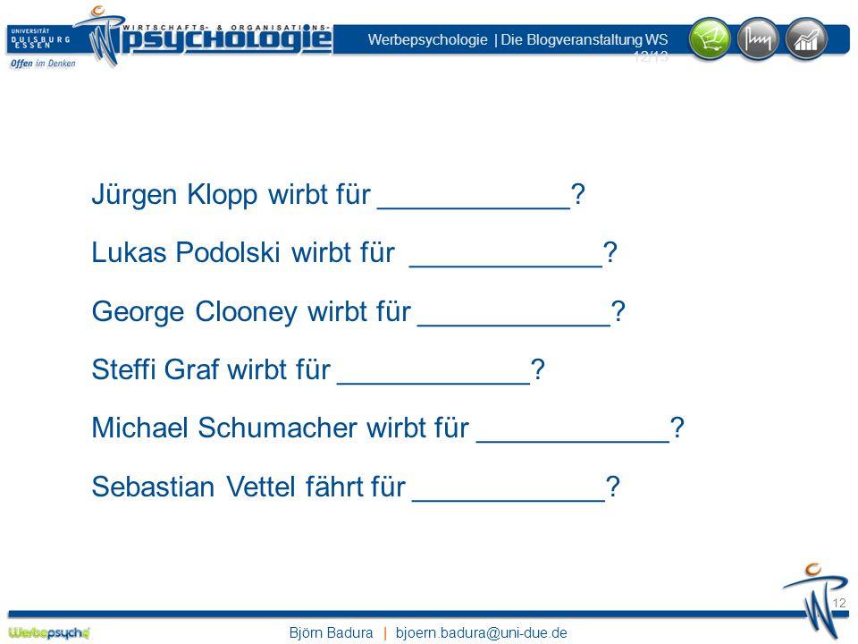 Jürgen Klopp wirbt für ____________