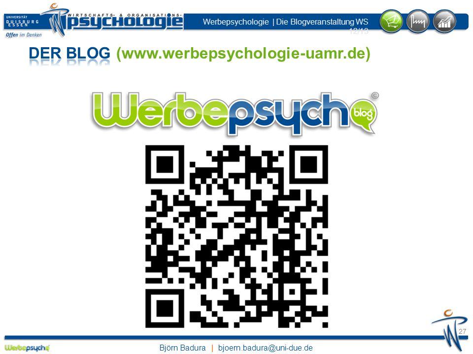 Der Blog (www.werbepsychologie-uamr.de)