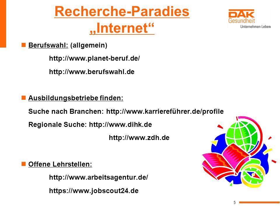 "Recherche-Paradies ""Internet"