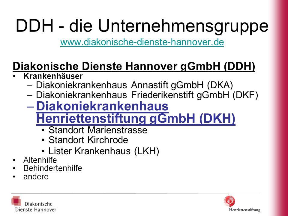 DDH - die Unternehmensgruppe www.diakonische-dienste-hannover.de