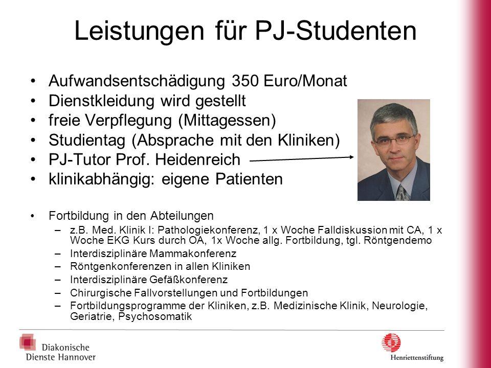 Leistungen für PJ-Studenten