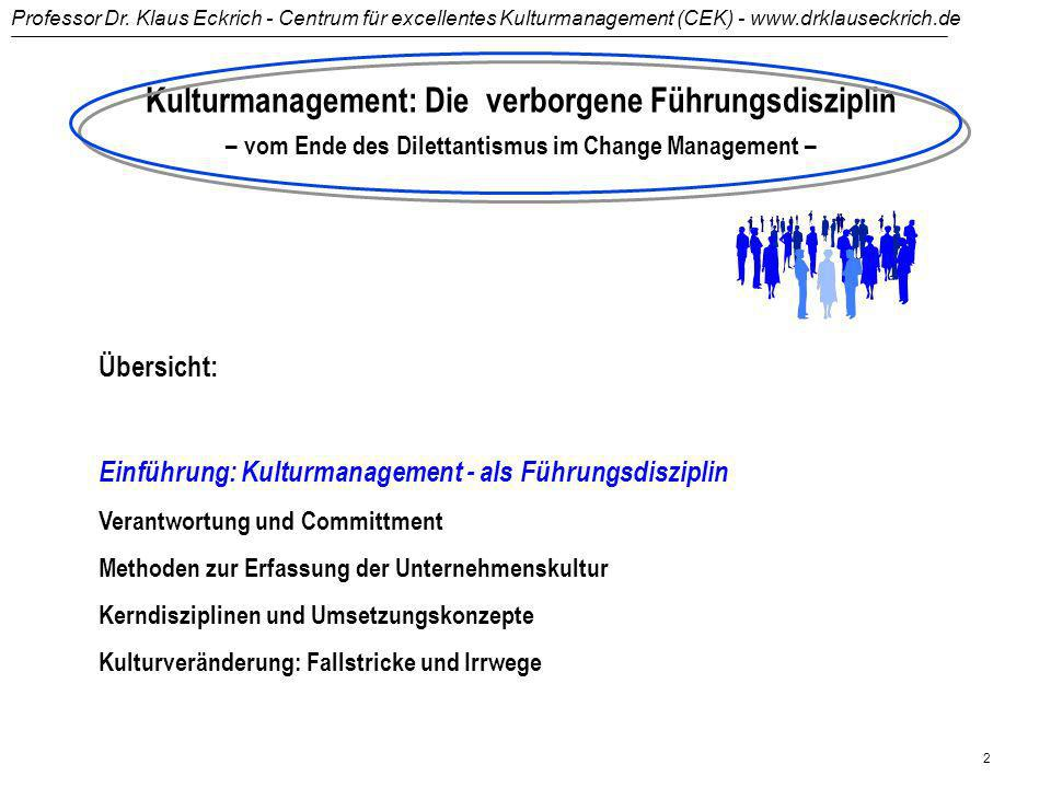 – vom Ende des Dilettantismus im Change Management –