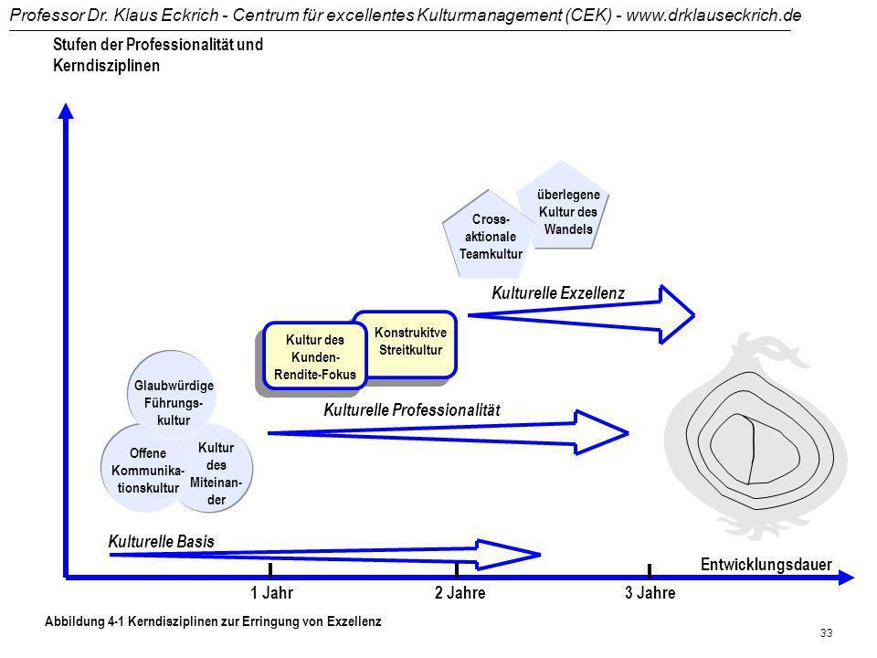 Stufen der Professionalität und Kerndisziplinen