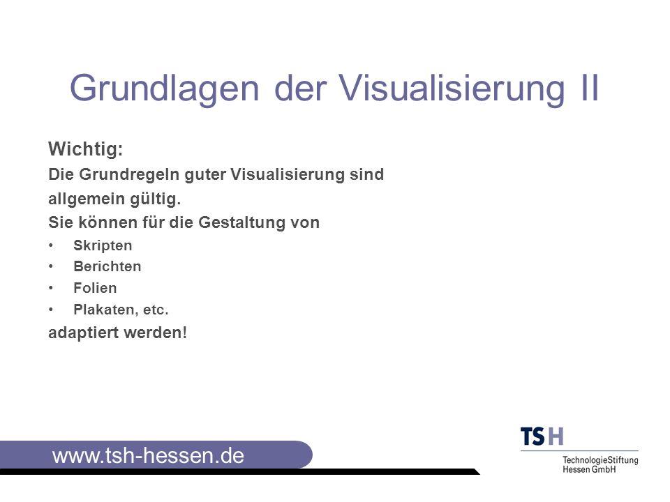 Grundlagen der Visualisierung II