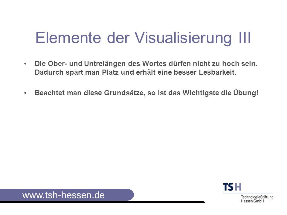Elemente der Visualisierung III
