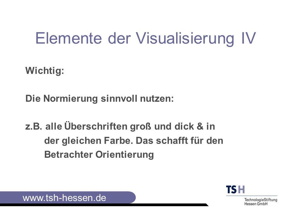Elemente der Visualisierung IV