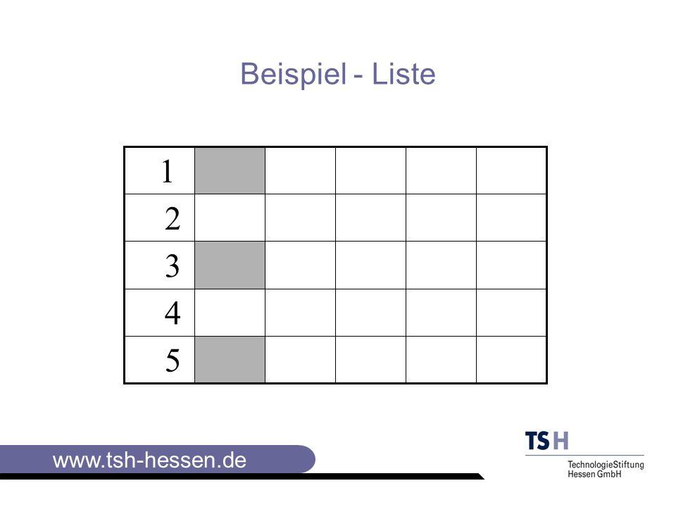 Beispiel - Liste 5 4 3 2 1