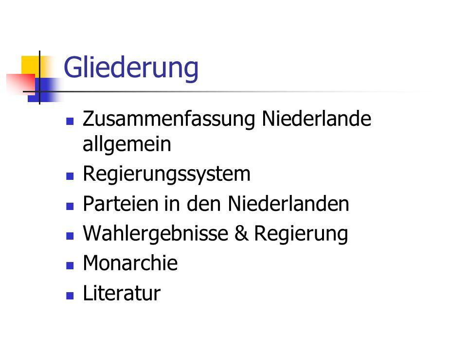Gliederung Zusammenfassung Niederlande allgemein Regierungssystem