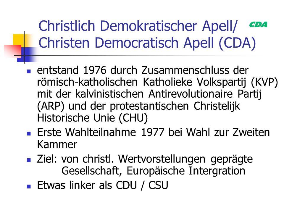 Christlich Demokratischer Apell/ Christen Democratisch Apell (CDA)