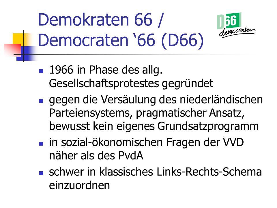 Demokraten 66 / Democraten '66 (D66)