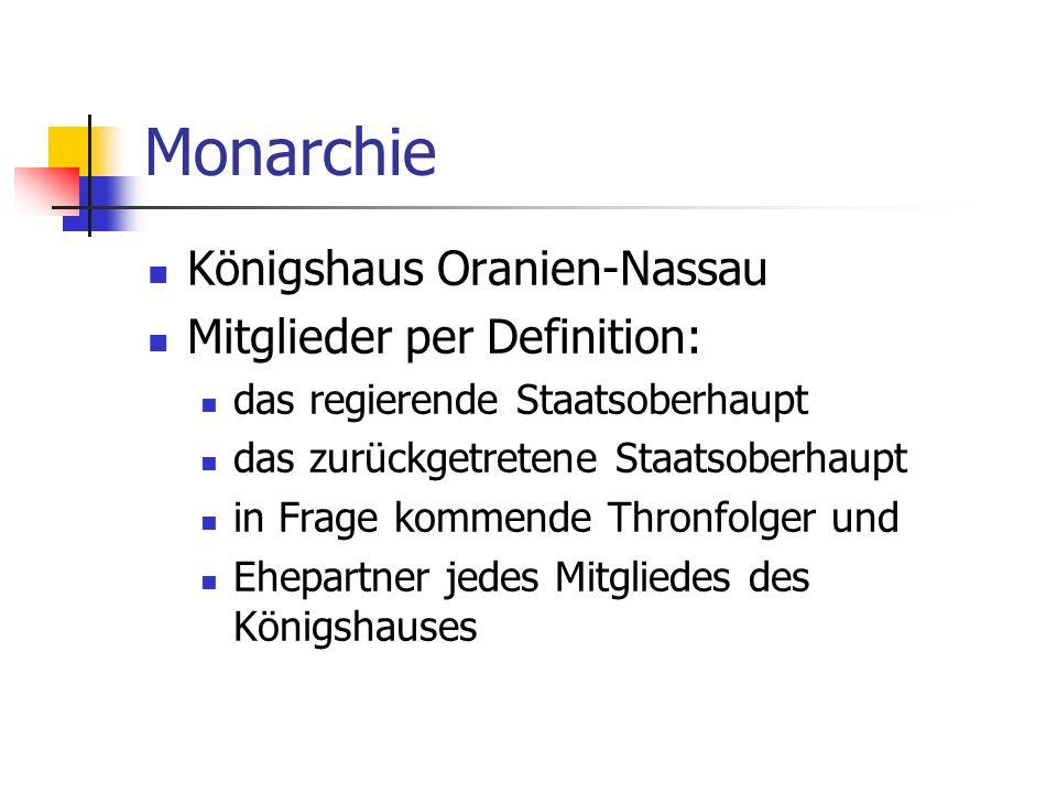 Monarchie Königshaus Oranien-Nassau Mitglieder per Definition: