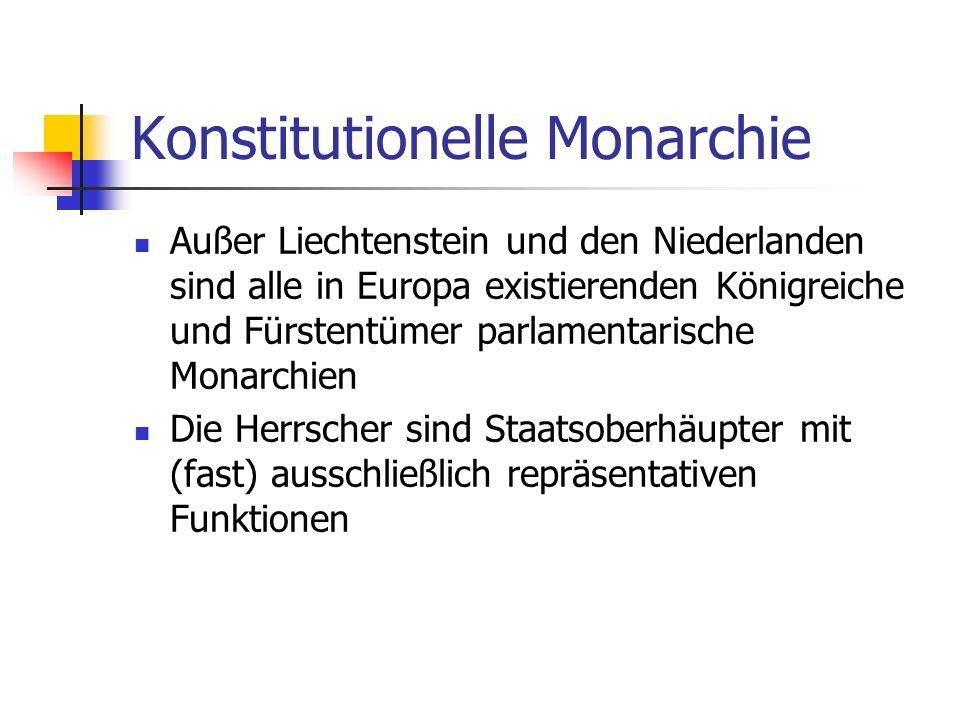 Konstitutionelle Monarchie