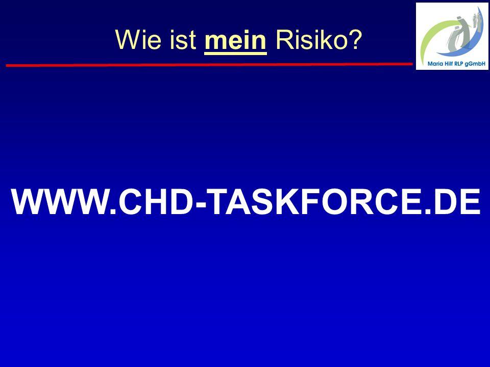 Wie ist mein Risiko WWW.CHD-TASKFORCE.DE