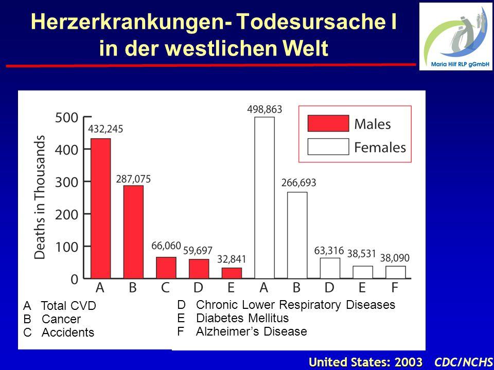 Herzerkrankungen- Todesursache I in der westlichen Welt