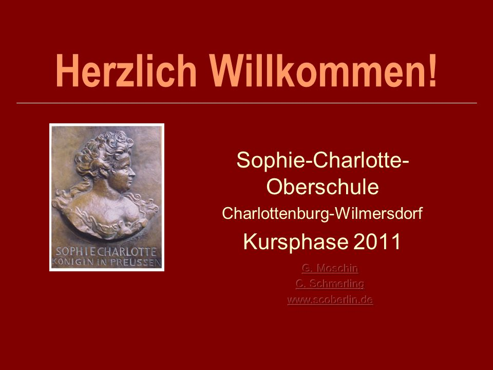 Sophie-Charlotte-Oberschule Charlottenburg-Wilmersdorf Kursphase 2011