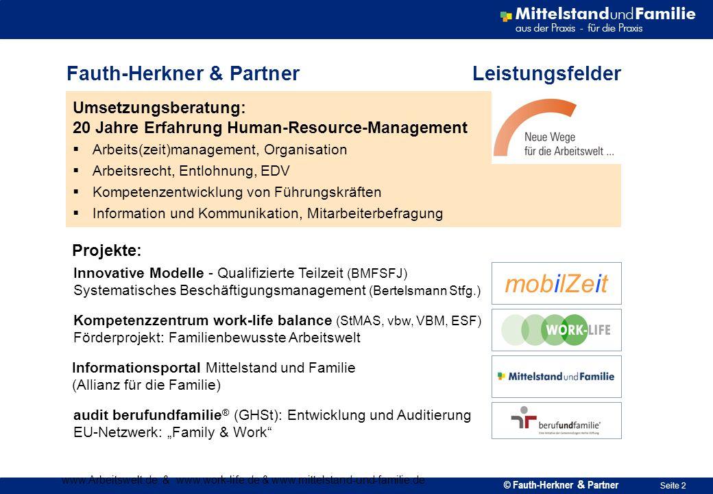 Fauth-Herkner & Partner Leistungsfelder