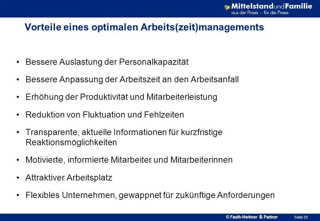 Vorteile eines optimalen Arbeits(zeit)managements