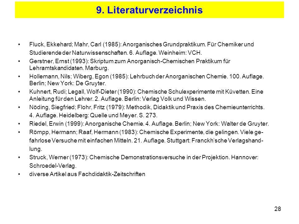9. Literaturverzeichnis