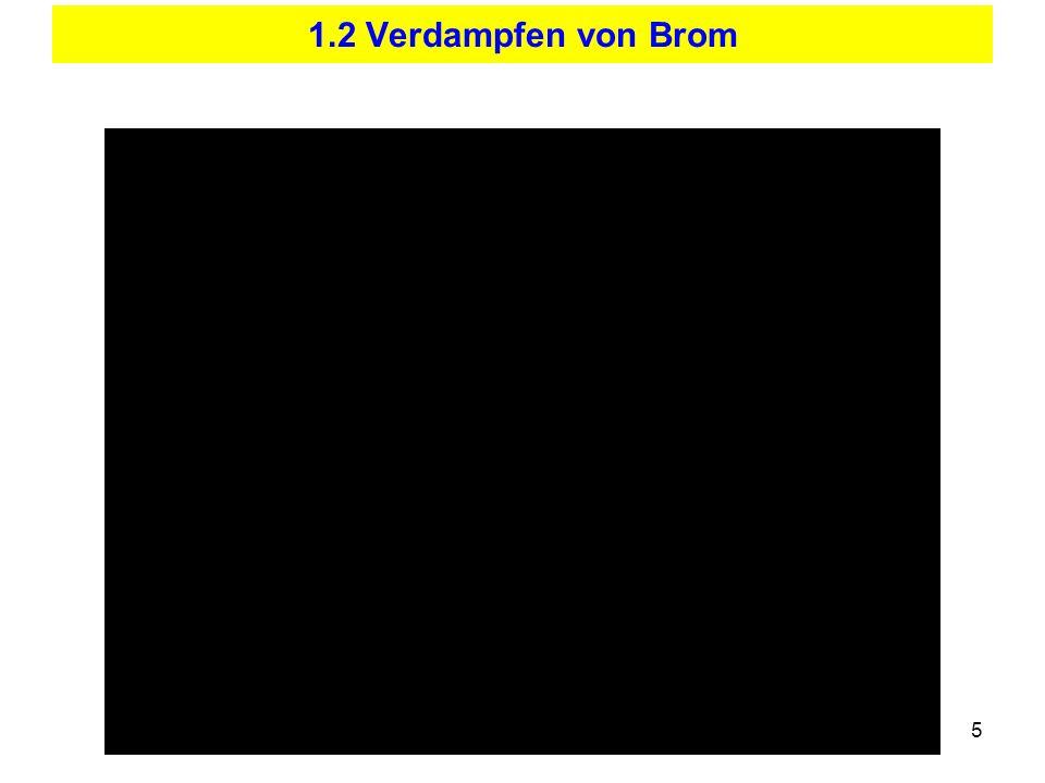 1.2 Verdampfen von Brom